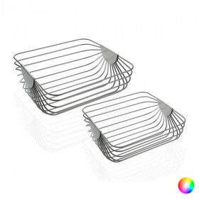 Global Home Other Decoration Items, Centerpiece Steel (35 x 13 x 35 cm) (2 pcs), S3404914, BigBuy Home