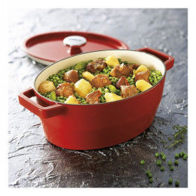 Global Home Pans and casseroles, Casserole with lid Pyrex Slow Cook Cast Iron, S2701826, Pyrex