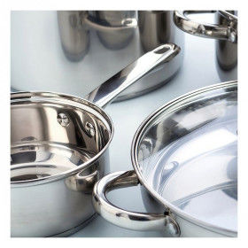 Global Home Pans and casseroles, Pot with Glass Lid Quid Stainless steel, S2701838, Quid