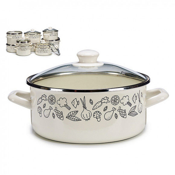 Global Home Pans and casseroles, Pot with Glass Lid (Ø 24 cm), S3604658, BigBuy Home