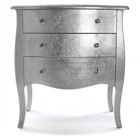 Global Home Chests of Drawers, Dressing Tables and Wardrobes, Chest of drawers Cagliari Wood (38 x 76 x 72 cm) Silver, S34039...