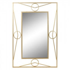 Global Home Mirrors, Wall mirror DKD Home Decor Golden Metal (71 x 3 x 92 cm), S3010967, DKD Home Decor